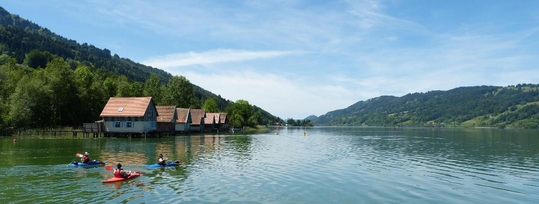 Fischerhäuser am Großen Alpsee bei Immenstadt