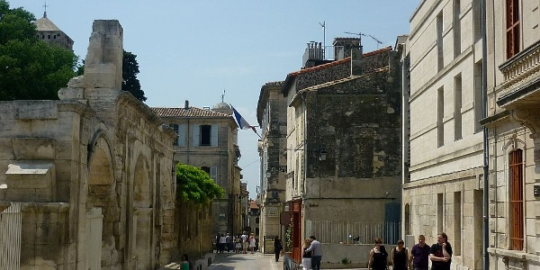 The city center of Arles