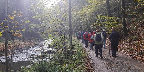 Perlbach mit Wanderweg