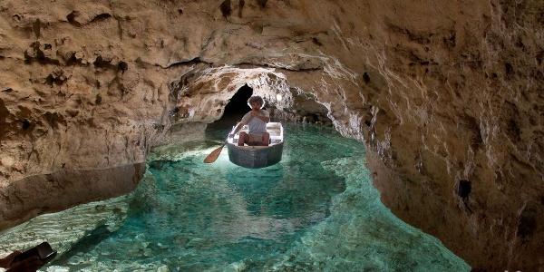 Boating underground