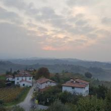 Morning view from B&B Dobrovo