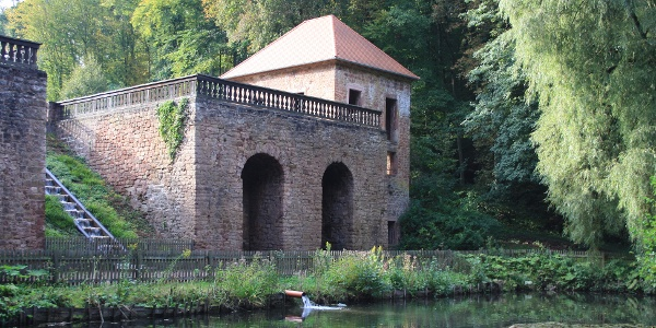 Pavillon des barocken Gartendenkmals