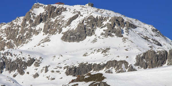 Blick vom Strelapass zum Weissfluh.
