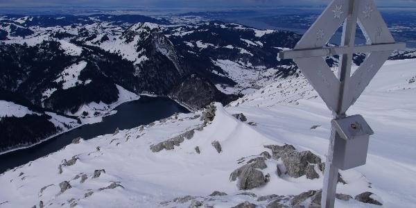 Auf dem Gipfel - Blick Richtung Norden
