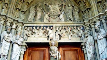 Lausane: Kathedrale - Portail peint