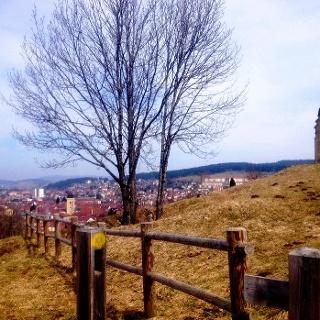 Vue sur Pontarlier depuis la chapelle du Buis