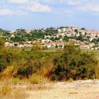 Vue sur Gallargues-le-Montueux