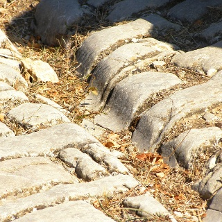 römische Wagenspuren nach Gallargues