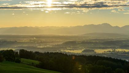 Blick vom Hohen Peißenberg Richtung Südosten