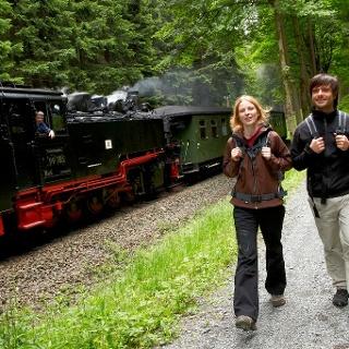 Kammweg an der Fichtelbergbahn