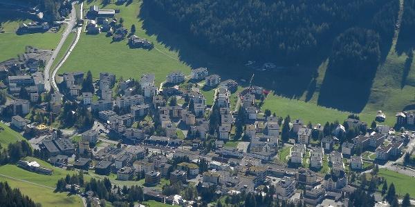 Blick auf Davos.