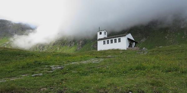 Kapelle auf der Bielerhöhe.