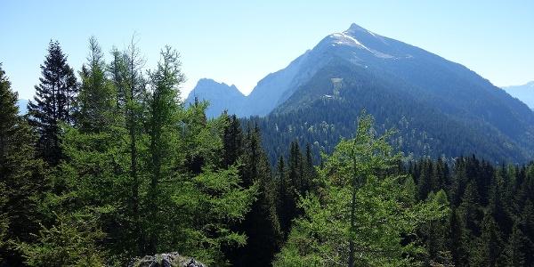 Im Zustieg: Rückblick zum Tamischbachturm, davor die Ennstaler Hütte