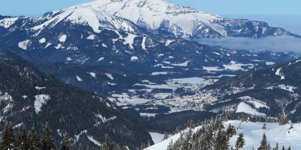 Blick nach Mariazell und zum Ötscher