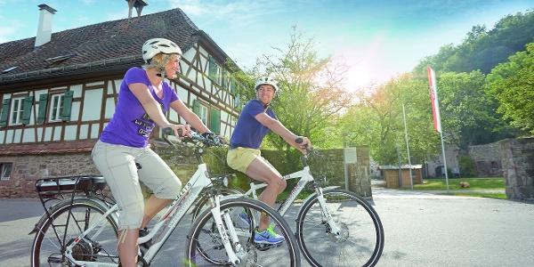 Radfahrer auf der Klosterroute