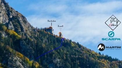 Übersichtsbild der Kletterfelsen Kundl und Backofen in den Chiemgauer Alpen