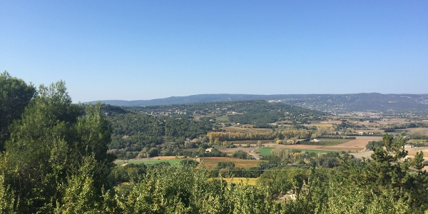The valley beyond Goult