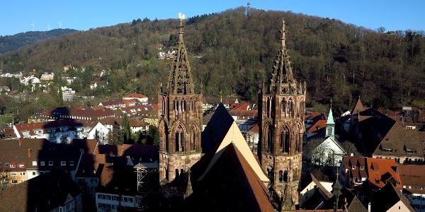 Ausblick von der Münsterplattform.