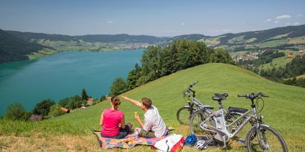 Picknicken mit Blick auf den Ägerisee