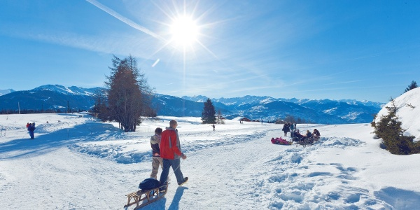 Family friendly hike around Ballesteros golf course in Crans-Montana
