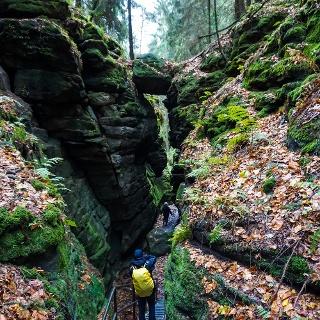 In der Teufelskammer zwischen Uttewalde und Wehlen