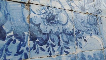 Azulejos im Bahnhof Porto