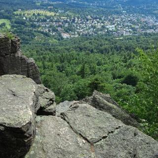Blick vom Battert auf Baden-Baden.