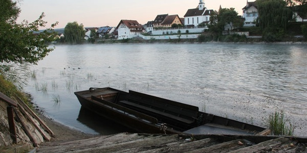 Rheinfähre Barz (CH) - Kadelburg (D)