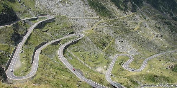 Hairpin bends on Transfagarasan Highway