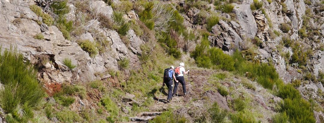 Auf dem Weg zum Pico Grande, Madeira