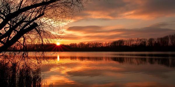 Sonnenuntergang am Wölfersheimer See