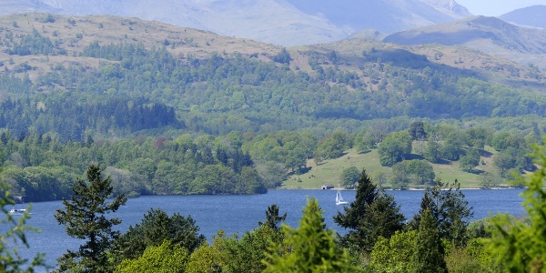 Views of Lake District Peaks from Bowness