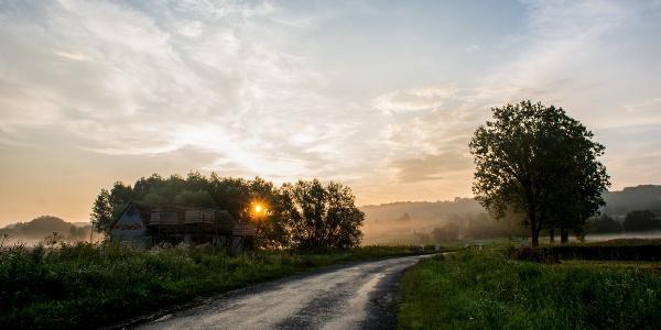 A Szilvásszentmárton és Zselickisfalud közötti út