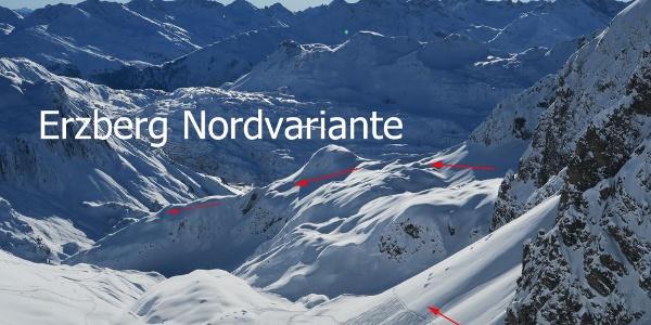 Erzberg Nordvariante Übersicht