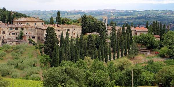 Fonterutoli, mit Siena im Hintergrund