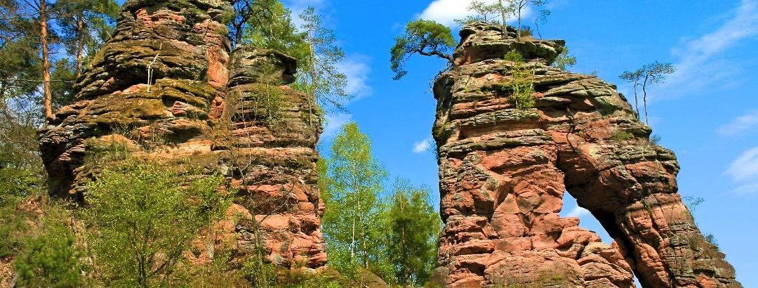 The Schiller Rock on the Dahner Felsenpfad