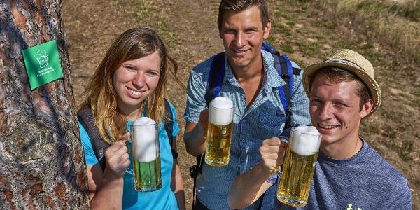 Biergenuss am Wanderweg