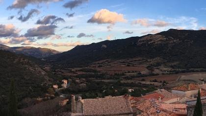 Cucugnan village rooftops