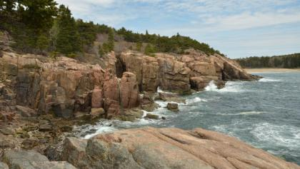 Rocky cliffs in Acadia National Park