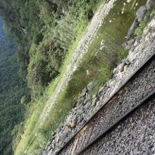 Am 4. Tag entlang der Schienen