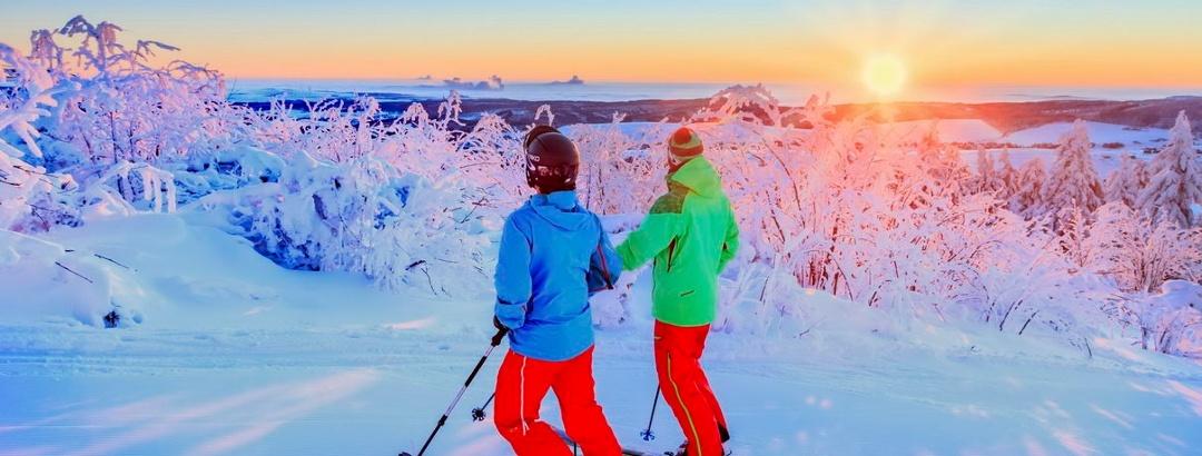 Skitourengänger am Fichtelberg