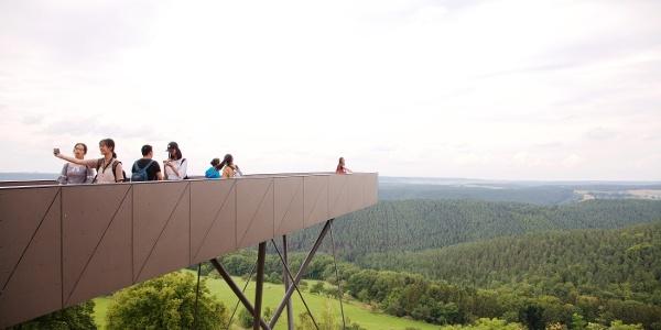 Skywalk mit Blick in das wunderschöne Saaletal