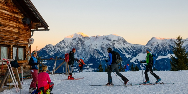 Hirschkaser als Skitourenziel