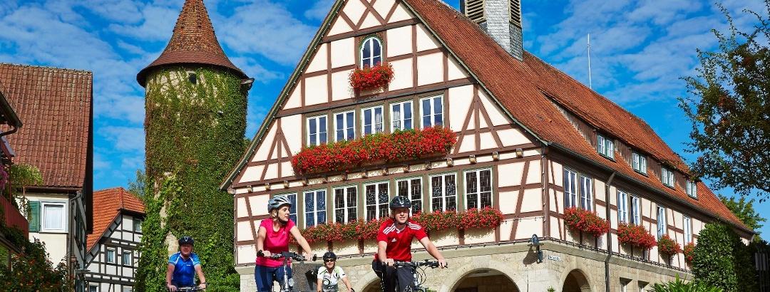 Radfahrer bei Niederstetten
