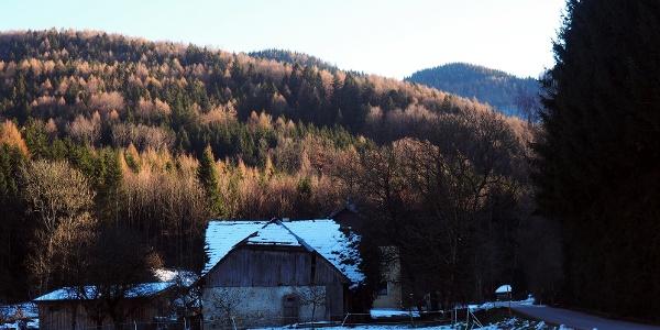 Das Gipfelziel vom P in Dörfl 550 m