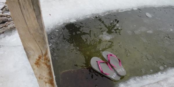 Flip-Flop im Eisparadies
