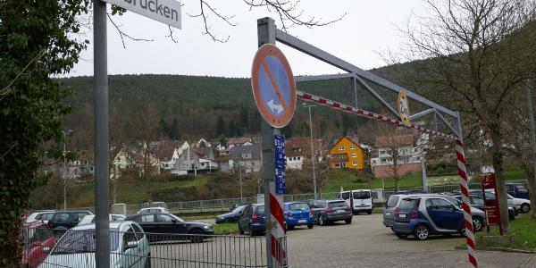 Der Start- und Zielpunkt Parkplatz Tuchmacherplatz