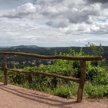Summit hiking trail Thuringian Forest