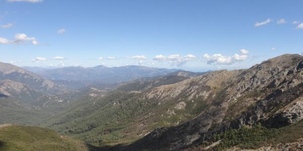 Blick nach Norden Richtung Cap Corse, Bildmitte Monte Petrone