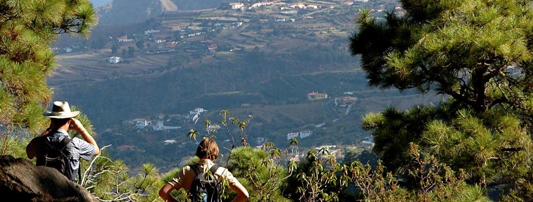 Ausblick vom Barranco de Madera